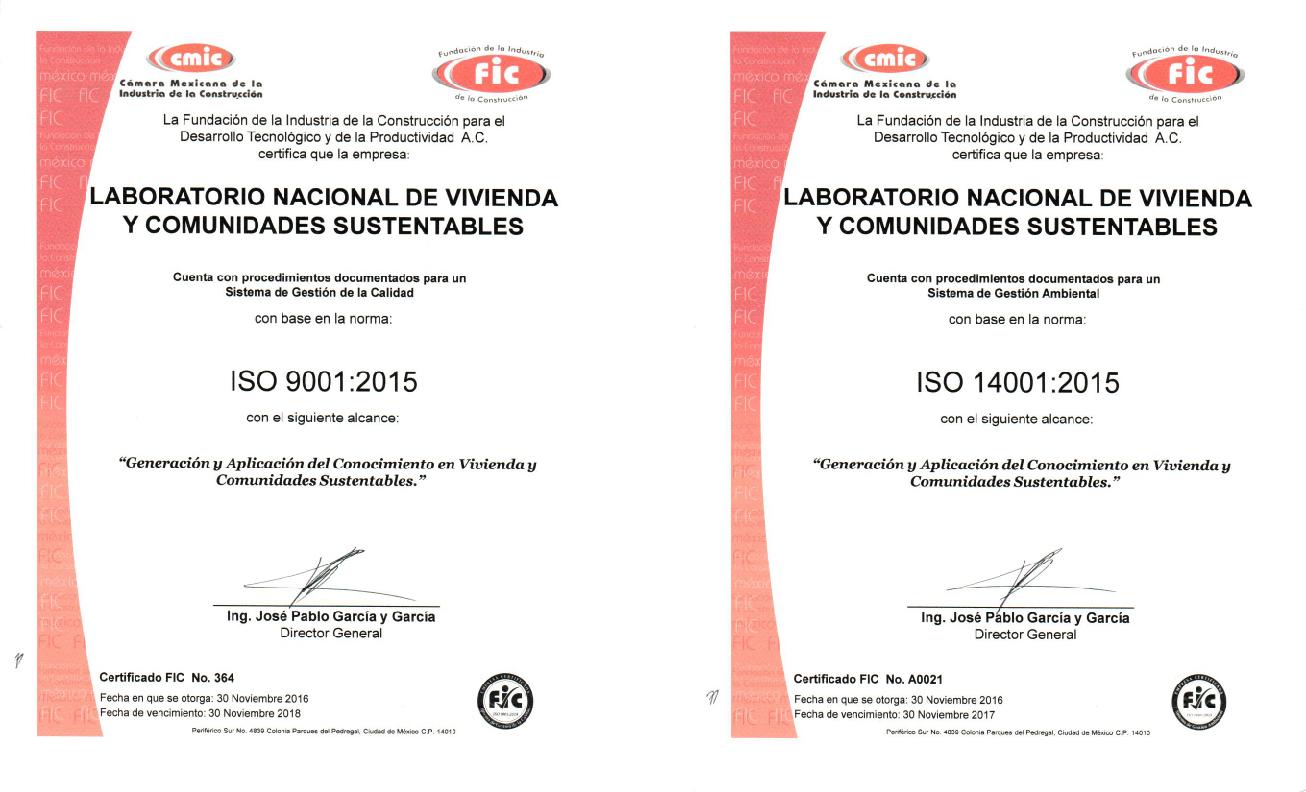 Certificado ISO 9001 y 14001_Nov 2016