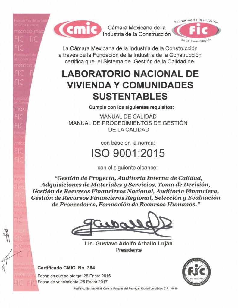 SISTEMAS DE CALIDAD-Certificado ISO 9001 2015_LNVCS
